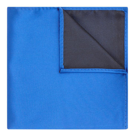 Satin Solid Pocket Square Blue
