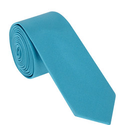 Satin Solid Tie Green