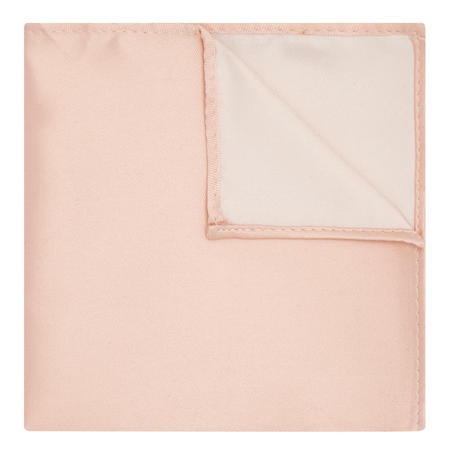 Satin Solid Pocket Square Pink