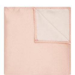 Satin Solid Pocket Square Pink