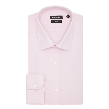 Textured Tapered Shirt Pink