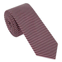 Check Pattern Tie Red
