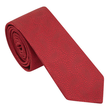 Textured Paisley Tie Red