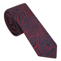 Paisley Pattern Tie Red