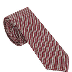 Pixel Houndstooth Pattern Tie Multicolour