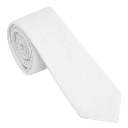 Paisley Tie White
