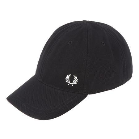 Piqué Logo Baseball Cap Black