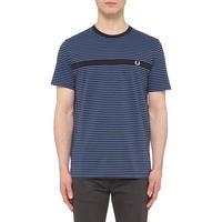 Multi-Stripe Logo T-Shirt Blue