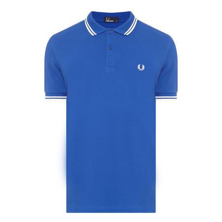 Twin-Tipped Polo Shirt Blue