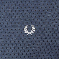 Polka Dot Print Polo Shirt Blue