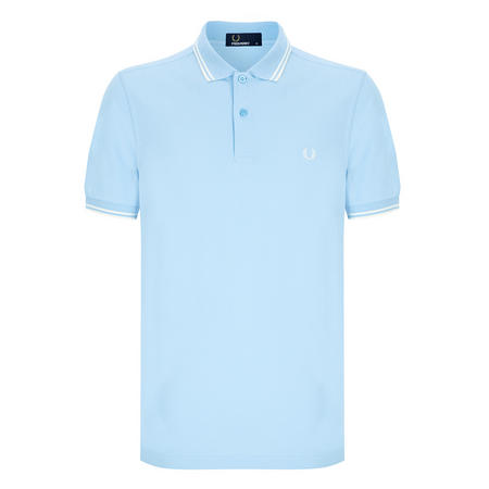 Twin Tipped Polo Shirt Blue