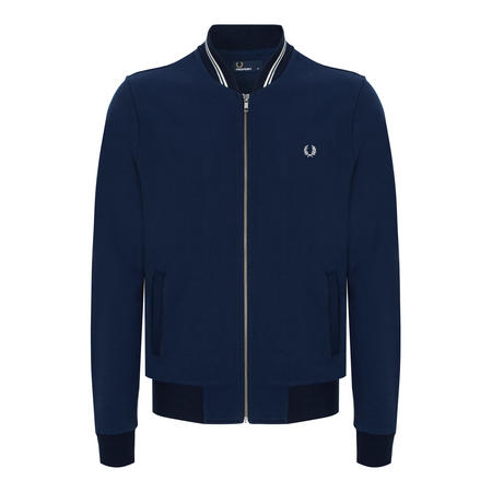 Tipped Bomber Sweat Top Navy