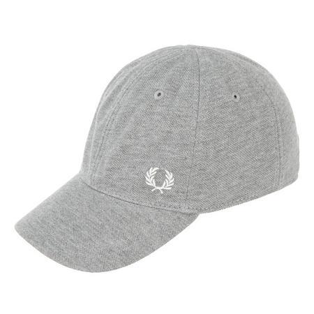 Piqué Logo Baseball Cap Grey