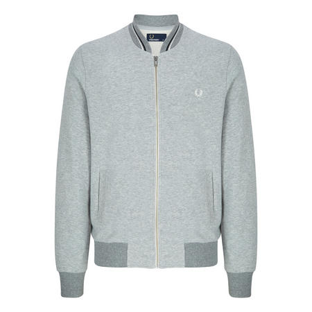 Tipped Bomber Sweat Top Grey