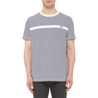 Multi-Stripe Logo T-Shirt White