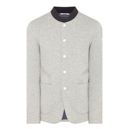 Snap Button Bomber Jacket Grey
