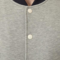Snap Button Bomber Jacket Grey