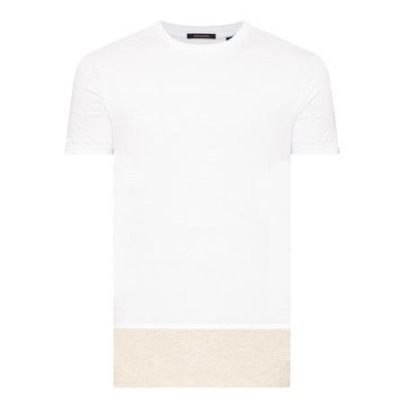 Fabric-Block T-Shirt White
