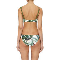 Palm Tie-Side Bikini Bottoms Green