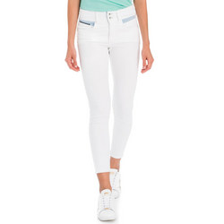 Secret Push-In Cropped Jeans White