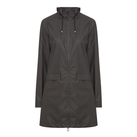 Hooded Lightweight Raincoat Black