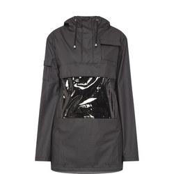 Glossy Waterproof Anorak Black