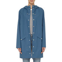 Long Waterproof Coat Blue