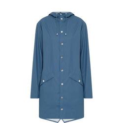 Long Waterproof Coat Blue
