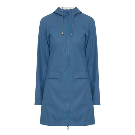 Hooded Lightweight Raincoat Blue