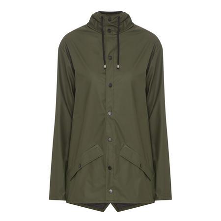Short Hooded Jacket Green
