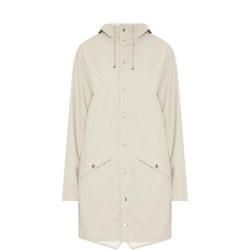 Long Waterproof Coat Grey