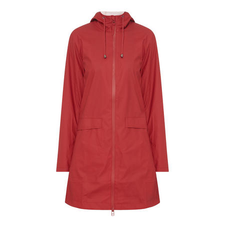 Hooded Lightweight Raincoat Red