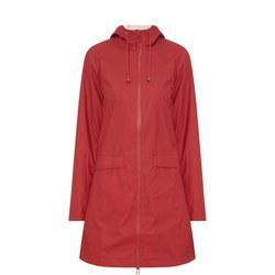 Hooded Lightweight Raincoat Red