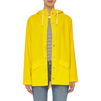 Short Hooded Jacket Yellow
