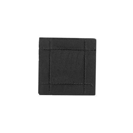Faux Leather Stitch Black 4 Coasters Black