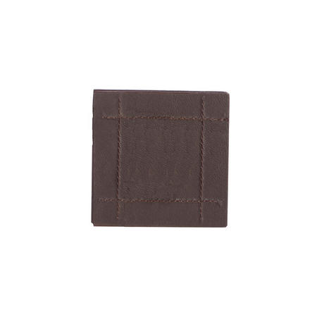 Faux Leather Stitch Brown 4 Coasters Brown