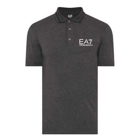 Cotton Stretch Polo Shirt Grey