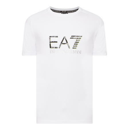Logo Round Neck T-Shirt White