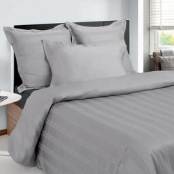 300 Thread Count Risc Nova Duvet Set Silver-Tone