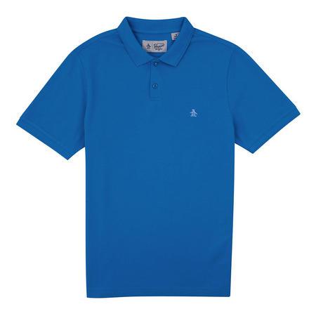 Raised Rib Polo Shirt Blue