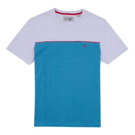 Colour Block Pique T-Shirt Blue