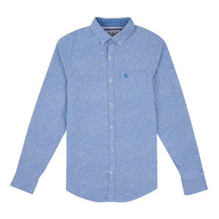 Floral Oxford Shirt Blue