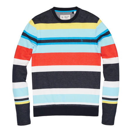 Engineered Stripe Sweat Top Multicolour
