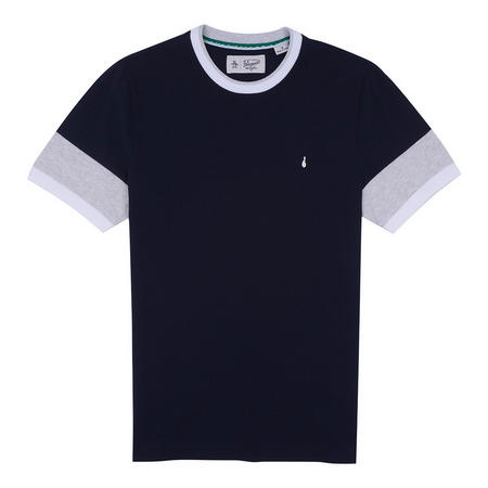 Contrast Trims T-Shirt Navy