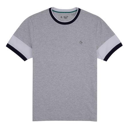 Contrast Trims T-Shirt Grey