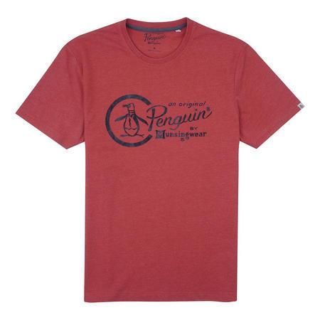 Distressed Logo T-Shirt Orange