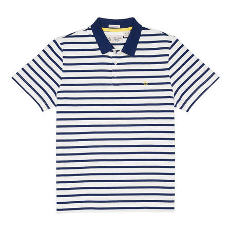 Breton Stripe Polo Shirt White