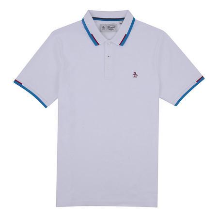 Block Tip Polo Shirt White