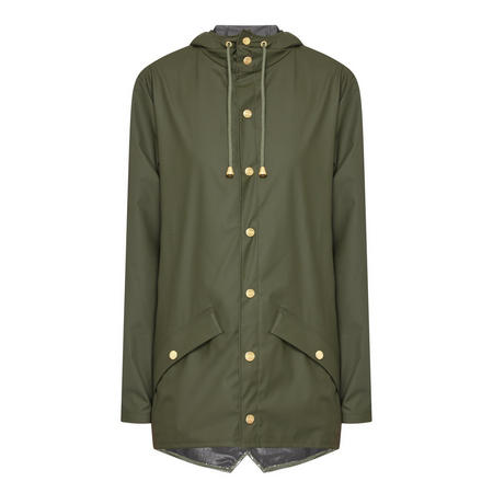 Glossy Raincoat Green Green