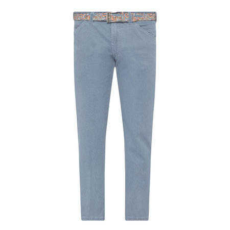 Chicago Ribbed Belted Trousers Blue